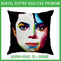 Bantal WPAP Michael Jackson 2 MEJS05 Bantal Sofa/Mobil