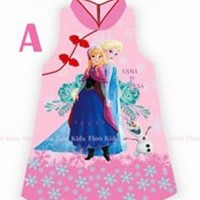 dress anak cewek shanghai imlek frozen pink import