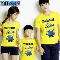 Baju Couple Family Minion - Kaos Berpasangan Sekeluarga Anak Murah