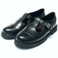 OBRAL !!!UKURAN 37sepatu kulit docmart hole flat shoes zipper wanita
