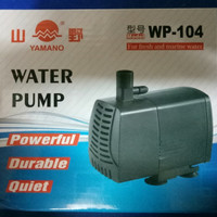 aquarium kolam ikan pompa celup water pump yamano wp 104 ori