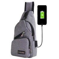 Tas Selempang USB port charger,Smart Backpack B295 - Hitam