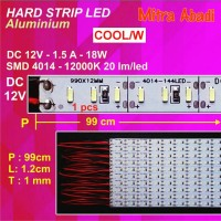 Hard Strip LED SMD 4014 Cool White 10.000K 18 Watt 1 Meter