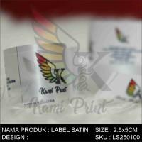 Label Satin Pita Baju Hijab Legging Kaos Full Warna 2,5cmx5cm murah