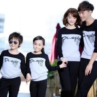 Baju Family Couple | Kaos Pasangan Keluarga Kopel 2 Anak Pusple 10771