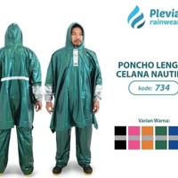 Jas Hujan Poncho Lengan Celana Plevia NAUTILUS 734 Batman Ponco Kalong