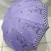 payung Lipat 3 Jumbo Besar 10 R jari motif Paris NF 59 menara eiffel