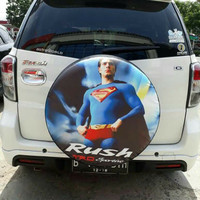Cover Ban / Sarung Ban Serep Rush Desain Superman