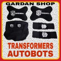 Bantal Mobil 3in1 TRANSFORMERS AUTOBOTS Full Bordir Sandaran Kepala