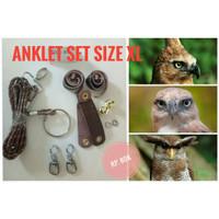 Anklet Set Ukuran XL buat BOP Owl Falconry