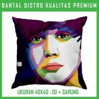 Bantal WPAP Justin Bieber JUNB19 Bantal Sofa/Mobil