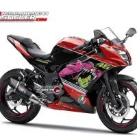 Decal Motor Sticker Motor Kawasaki Ninja 250 Mono Merah 46
