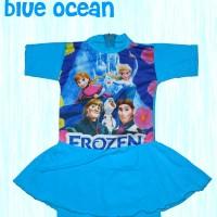 Baju Renang anak frozen dengan rok ukuran junior