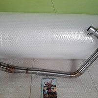 Leher Knalpot Racing Stainlles Full Cacing R15-Byson-Xabre-Cb150R-Dll
