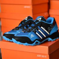 Terlaris Sepatu Sport Adidas AX2 Goretex Hitam Biru Muda Olahraga