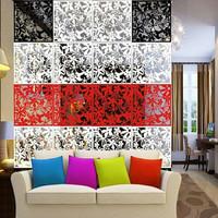 dekorasi pembatas ruangan vintage pvc 1set isi 4bh - sekat ruangan