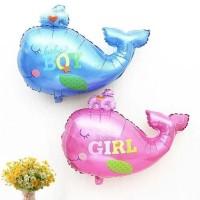 Balonasia Balon Foil Animal Baby Whale / Paus Baby Boy and Girl