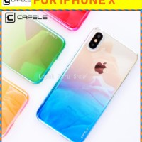 IPHONE X - CAFELE Aurora Gradient Case Glaze Material