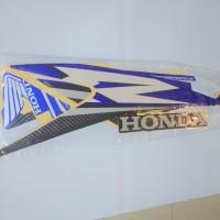 Stiker Bodi & Lis Body & Striping Supra X 125 R 2007 Biru