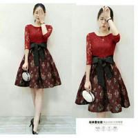 DRESS MARRY BAJU DRESS WANITA DEWASA LENGAN 3/4  CEWEK Jaman Now