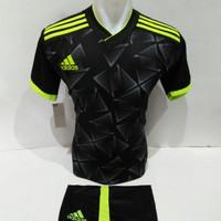 setelan olahraga kaos bola jersey futsal baju volly adidas hitam hijau