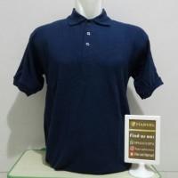 Kaos POLO SHIRT Polos bahan Cotton Pique warna Biru Navy Dongker