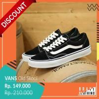 Sepatu Casual Vans Old Scholl Black / Skateboard / Sepatu Sekolah