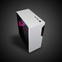 CUBE GAMING VEMUC BLACK & WHITE - ATX - Full Acrylic Wi Murah