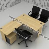 Meja Kantor Bentuk L Modera B Class Dengan Laci