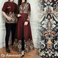 Baju Batik Couple Family / Baju Batik Keluarga Cp Asmiranda Coklat