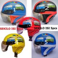 Grosir Helm Anak Tayo untuk usia 1-5 Tahun Sekilo isi 4pcs