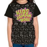 Baju Kaos Anak T-Shirt Tshirt Kids Jaman Now Hitam