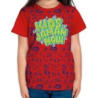 Baju Kaos Anak T-Shirt Tshirt Kids Jaman Now Merah