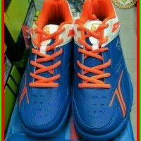 [PROMO] Sepatu Badminton Bulutangkis Rs Sirkuit 567 Blue Orange Origin