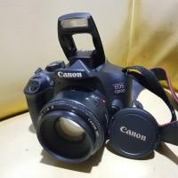 CANON EOS 1300D + Lensa 50MM wify (Seri Baru)