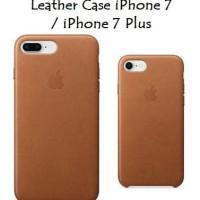 Premium Leather Case Casing Iphone 7 / 7 Plus model Original Apple OEM