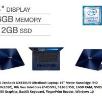 ASUS UX430UN i7-8550 16GB 512GB SSD 13FHD win10 original GT150mx 2gb