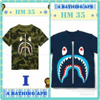 Baju kaos boy anak laki cowok bape doreng HM35 import t-shirt 8-13th