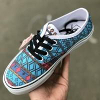 sepatu vans authentic motif keren cowok cewek premium murah casual neo