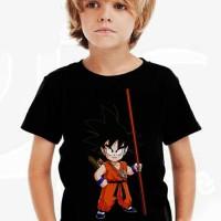 Kaos Baju Tshirt Anak Distro Dragon Ball Goku 04 Hitam