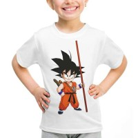 Kaos Baju Tshirt Anak Dragon Ball Goku 04 Putih
