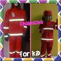 Baju Kostum Helm Karnaval Anak Profesi Pemadam Kebakaran Damkar PMK