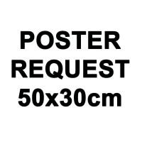Poster Art / Wall Art + Bingkai Kayu Custom / Request 30X50cm