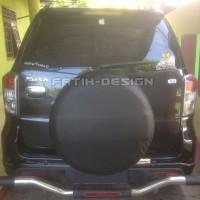 Sarung Ban Cover Ban Serep Rush Ecosport Crv Terios Hitam Polos