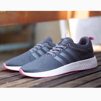 Adidas NMD R2 Women Grey Pink / Abu Sepatu Running Cewek Wanita Gym