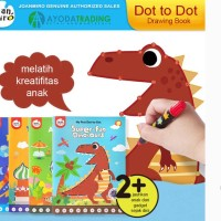 Buku Gambar Mewarnai Dot to Dot Mainan Edukasi Early Learning - Buildings
