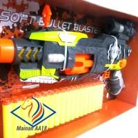 Mainan Pistol Tembakan / Bayonet Rifle Soft Bullet Blaster