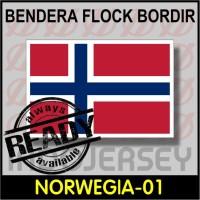 Patch Badge Flock BORDIR BENDERA - NORWEGIA / NORWAY [01]