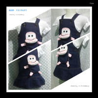 BAJU WANITA TERBARU Baby jumper dino jeans bayi lucu dress with inner