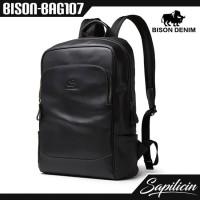 Tas Punggung Kulit Sapi Asli Bison Denim Urban Backpack BISON-BAG107